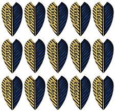 5 New Sets of Harrows Vortex Dart Flights - Blue Gold - Ships W/Tracking
