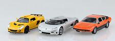 3 er Set Sportwagen Königsegg Lamborghini und Lotus 1:43 Ixo/Altaya Modellauto