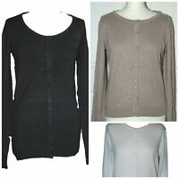 New Ex H&M Women Ladies  Fine knit Cardigan Black White Beige Size: XS S M L XL