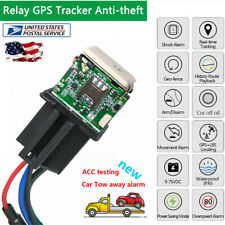 Car Relay GPS Tracker Tracking Remote Control Anti-theft Monitoring Cut Off Oil