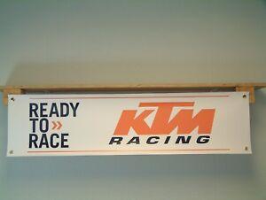 KTM Motorcycle Banner Motorsport Workshop Garage Racing Trackside Ready to Race