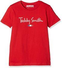 T-shirts et hauts rouges à longueur de manche manches courtes pour garçon de 14 ans