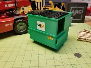 Miniature 8-yard Dumpster at 1/24, 1/25 Scale for Dioramas