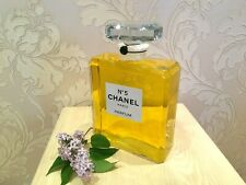 SUPER RARE GIANT GLASS FACTICE CHANEL № 5 STORE DISPLAY (2 LITERS)
