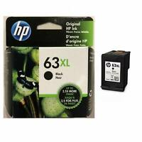 Genuine HP 63XL High Yield Black Ink Cartridges F6U64AN Exp 2019-2020