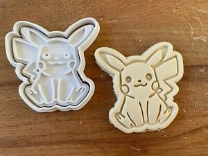 Pikachu Pokemon Cookie Cutter 2pc