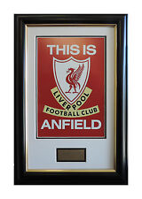 Liverpool FC Team Logo THIS IS ANFIELD Framed