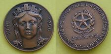 MEDAGLIA GETTONE ITALIA XX° ANNIVERSARIO DELLA REPUBBLICA ITALIANA 1946--->1966