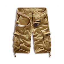 Men Military Army Pants Combat Camo Tactical Trousers Work Pocket Cargo Shorts