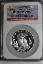 2012 P Australia Kookaburra High Relief PF 70 NGC Ultra Cameo #159