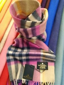 100% Cashmere Scarf | The House Of Balmoral | Astral Raspberry | Soft | Bright
