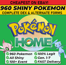 Pokemon Home ALL 807 SHINY FULL Living Dex & Events, Alternate forms and more!