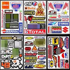 Rally Dakar Supercross Motocross Nascar Racing Car Bike Helmet Stickers 6 sheets