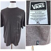 Vans Men's XL Heather Brown Short Sleeve T-Shirt  Q-78