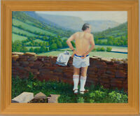 Mollie D. Poore - Framed Contemporary Oil, Pause For Thought
