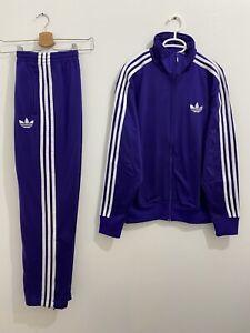 Adidas Originals ADI-Firebird Tracksuit Purple White, Jacket Size M Pants S