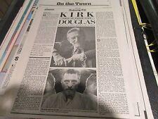 Bette Davis / Kirk Douglas , NY Daily News , Newspaper Clipping / Poster ,4/5/87