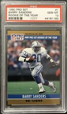 1990 Pro Set #1 Barry Sanders Rookie Of The Year PSA Gem Mt 10