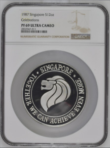 1987 Singapore Silver 12oz Celebrations NGC PF69UC Rare