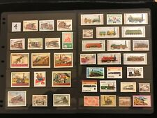 RAILROADS & TRAINS ON STAMPS TOPIC UnUsed Stamp Collection  FREE SHIPPING  LOT 4