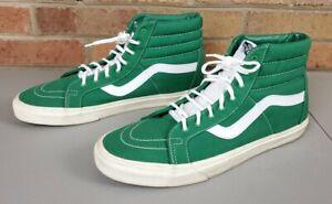 Green Mens Sk8-Hi Vans High Tops Size 13
