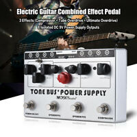 MOSKY TB 8 Isolated Power Supply US 3 Guitar Effects Pedals Compressor Overdrive