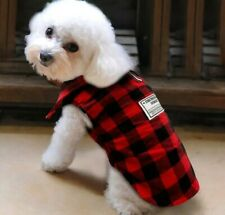 British Plaid Dog Vest Clothes Pet Puppy Fleece Padded Coats Jacket size XXL