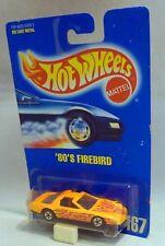 """Hotwheels 167 """"années 80 Firebird Mural Noir Roues carte bleue"""