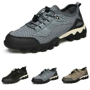 Mens Climbing Sports Flats Walking Faux Leather Outdoor Hiking Sneakers Shoes L