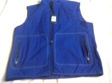 Ralph Lauren Polo men's vest blue size medium full zip