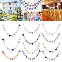 3.2M Colorful Fabric Flags Banner Bunting Pennant Wedding Party Home Decoration
