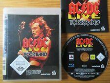 AC/DC LIVE ROCKBAND PLAYSTATION 3 PS3 GAME MUSIK SPIEL HARDROCK