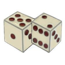 WHITE DICE LUCKY BELT BUCKLE CRAPS GAMBLER CASINO VEGAS BABY FIT SNAP BELT