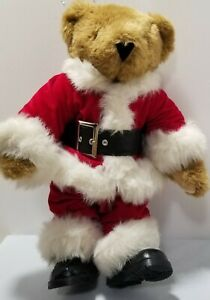 Authentic Vermont Articulated Teddy Bear Plush Santa Clause Bear in Suit