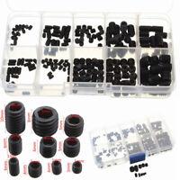 Black Allen Head Socket Hex Set Grub Screw Cup Point Assortment Kit Steel 200pc