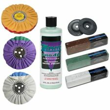 Zephyr Super Shine X Polishing Kit Chrome Tripoli Wheels Flanges