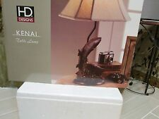 HD Designs KENAI Fish Table Lamp NEW