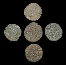 MEDIEVAL SPAIN. Enrique III, Billon 2 Cornados, 1390-1406, Lot of 5