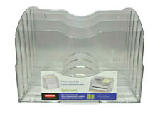 Rubbermaid Optimizers File Organizer Letter Clear Plastic 94610ros