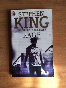 ROMAN RAGE de STEPHEN KING / BACHMAN / Roman rare car plus édité depuis 1997