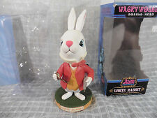 2010 Alice in Wonderland WHITE RABBIT Bobblehead Nodder Wacky Wobbler FUNKO