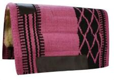 "Showman 34"" x 36"" PINK/BLACK Wool Top Cutter Style Saddle Pad!! NEW HORSE TACK!!"