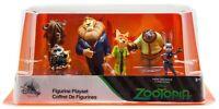 Disney Zootopia 6pc Figure Play Set Toys Judy Nick Flash Sloth Cake Toppers NIB