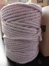 Piping Cord Essential White  Pre Shrunk 100% Cotton 5 metres Size 4  4.5mm
