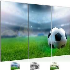 Wandbilder Set XXL Modern | Fussball Wohnzimmer Schlafzimmer Deko Kunstdruck 3D