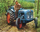 Fordson Dexta Vintage Tractor Advertising Poster (A3)