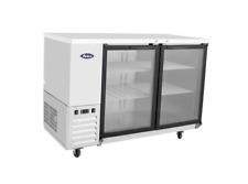 """New 59"""" Back Bar Cooler Swing Glass Door Refrigerator Nsf Atosa Mbb59G-Gr #8816"""