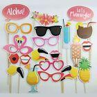 21Pcs Photo Booth Props Flamingo Tropical Hawaiian Wedding Party Supplies Decor