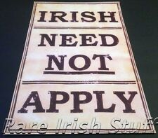 Irish Need Not Apply - Poster Anti Irish Historical Print Sign Ireland Print