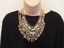 Necklace Vintage Pearl Gold Medallion Cowl